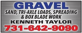 Sand, Tri-axle Loads, Spreading & Box Blade Work