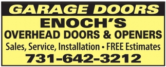 Garage Doors Sales, Service And Installation